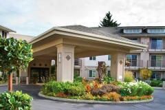 Photo: The Lakeshore senior living building entrance exterior - Era Living