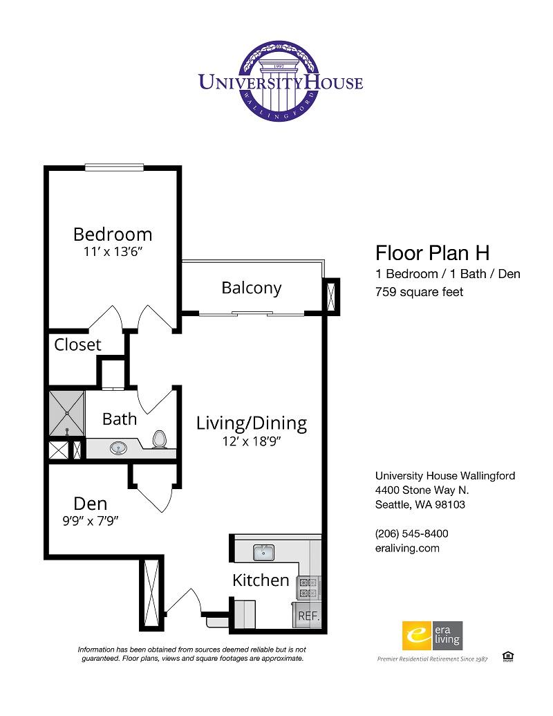 One Bedroom / Den Options 1
